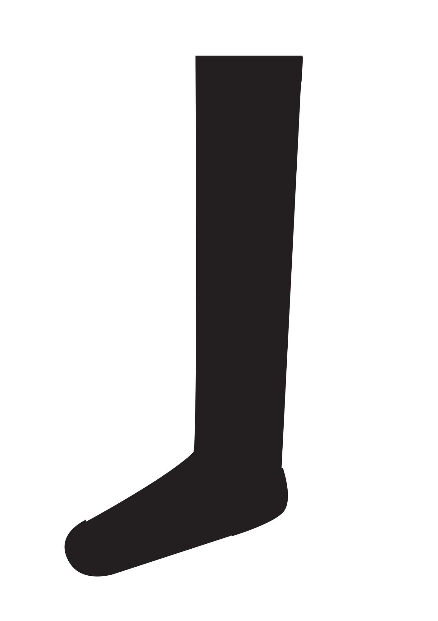 Knee-highs in recycled polyamide black