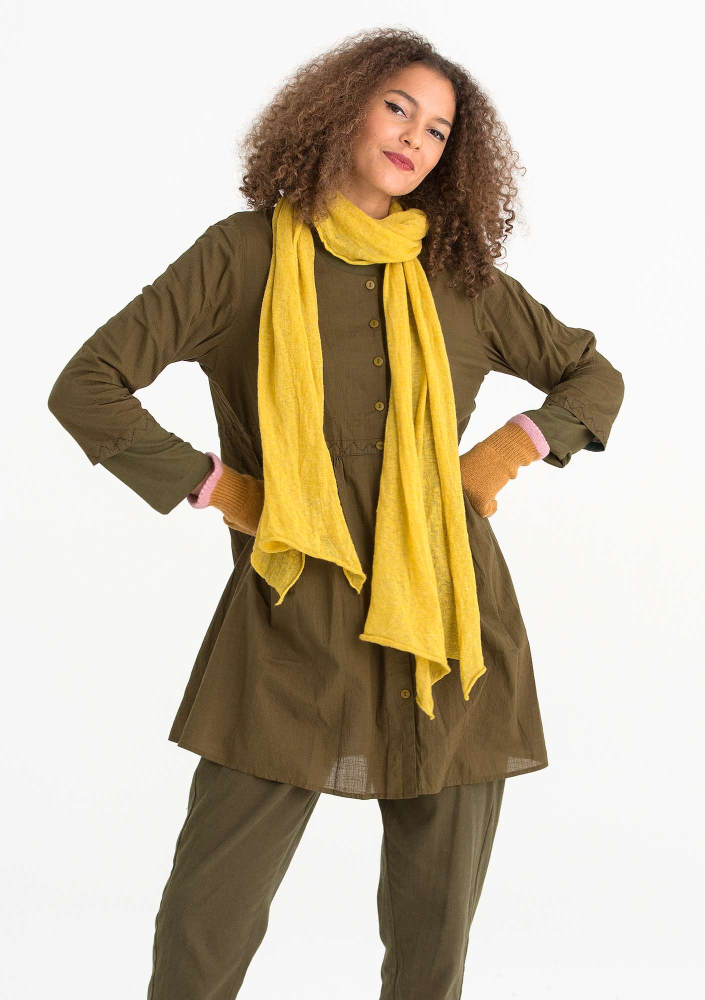 Tunic in eco-cotton fir