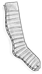 Striped knee-highs in recycled polyamide