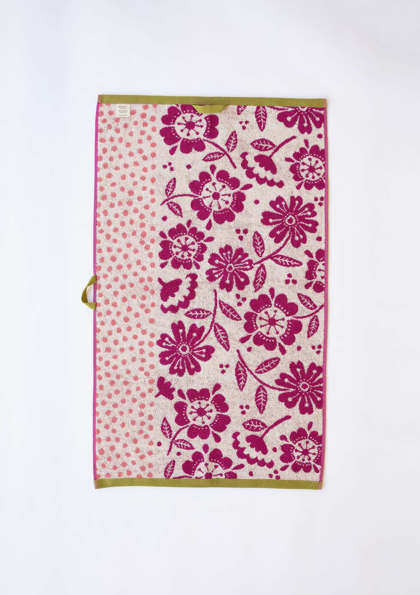 """Okinawa"" eco-cotton hand towel water lily"