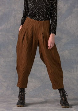 Striped trousers brass
