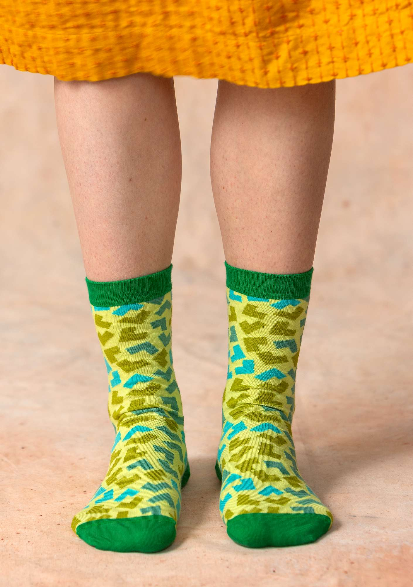"""Hake"" organic cotton socks lotus green"