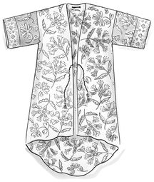 """Crocus"" organic cotton kaftan"