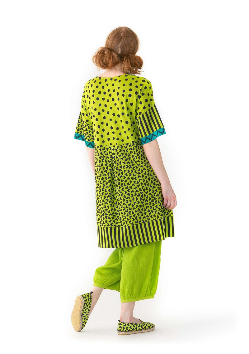 """Tricky"" dress in modal/organic cotton tropical green"