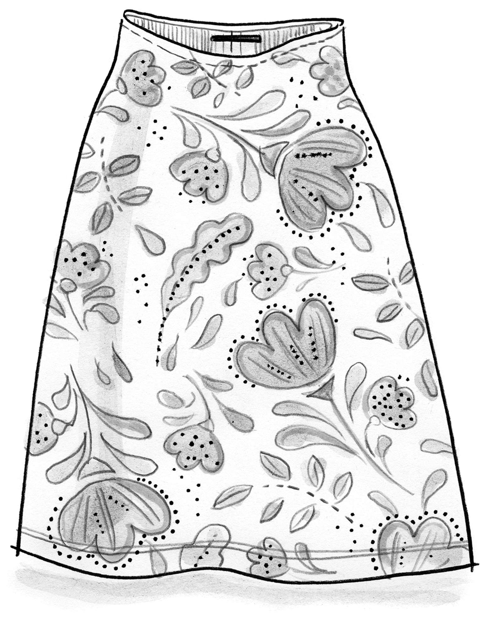 """Isadora"" skirt in eco-cotton/elastane"
