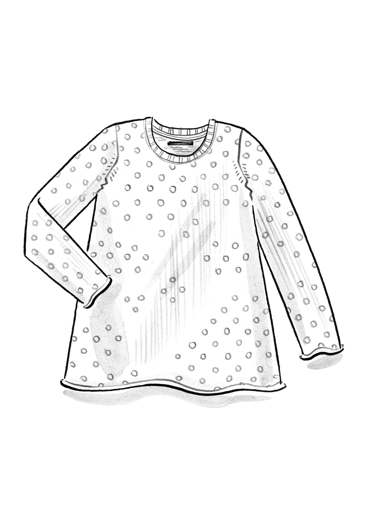 "FAVOURITE sweater ""Belle"" made of recycled cotton light warm grey/patterned"
