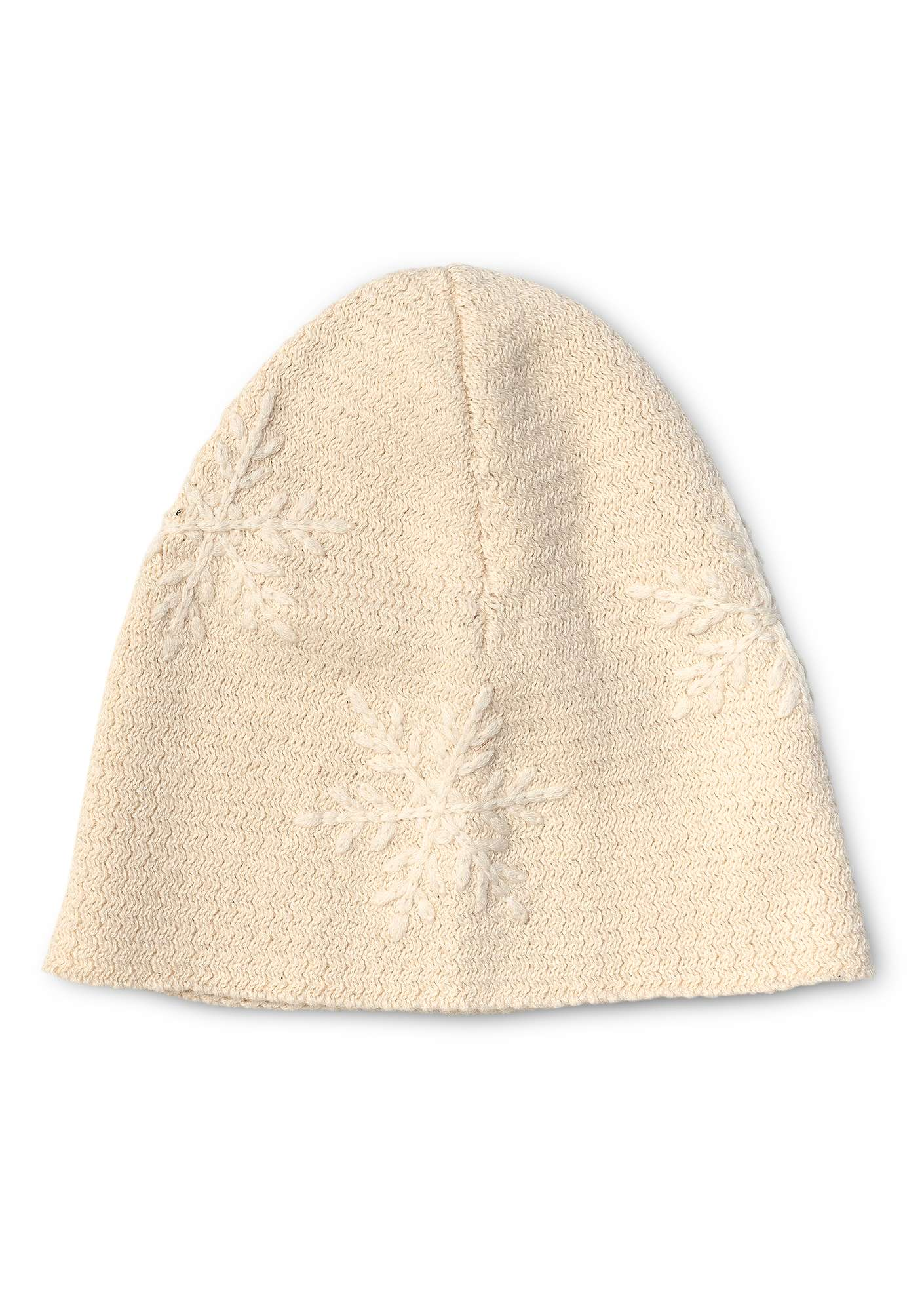 """Kanek"" beanie in organic cotton/wool offwhite"