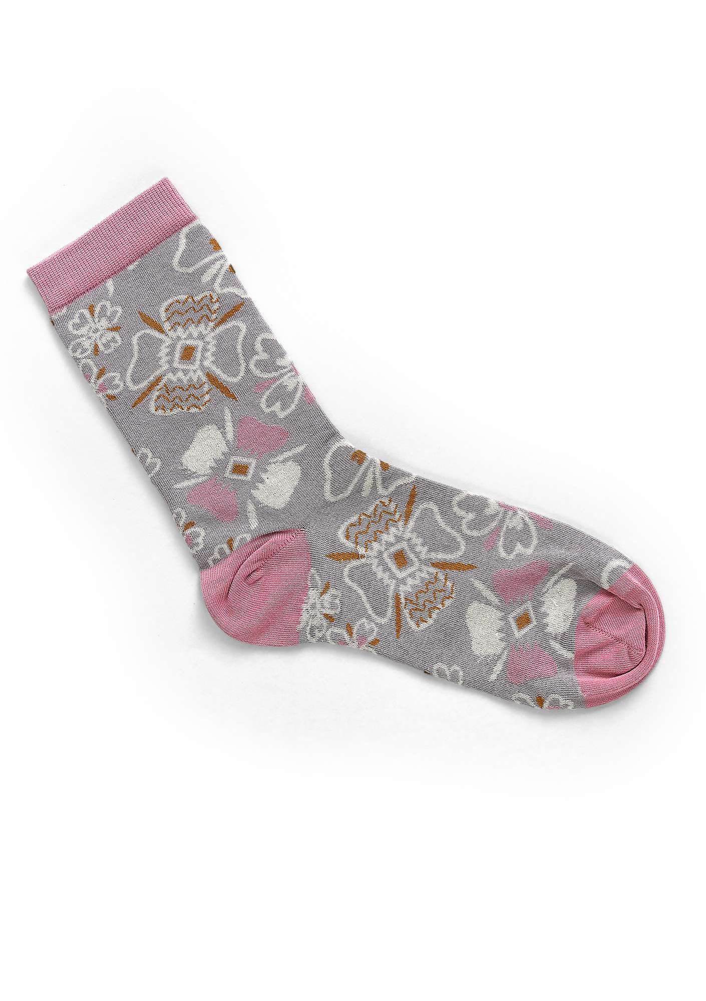 """Joni"" organic cotton socks heron"