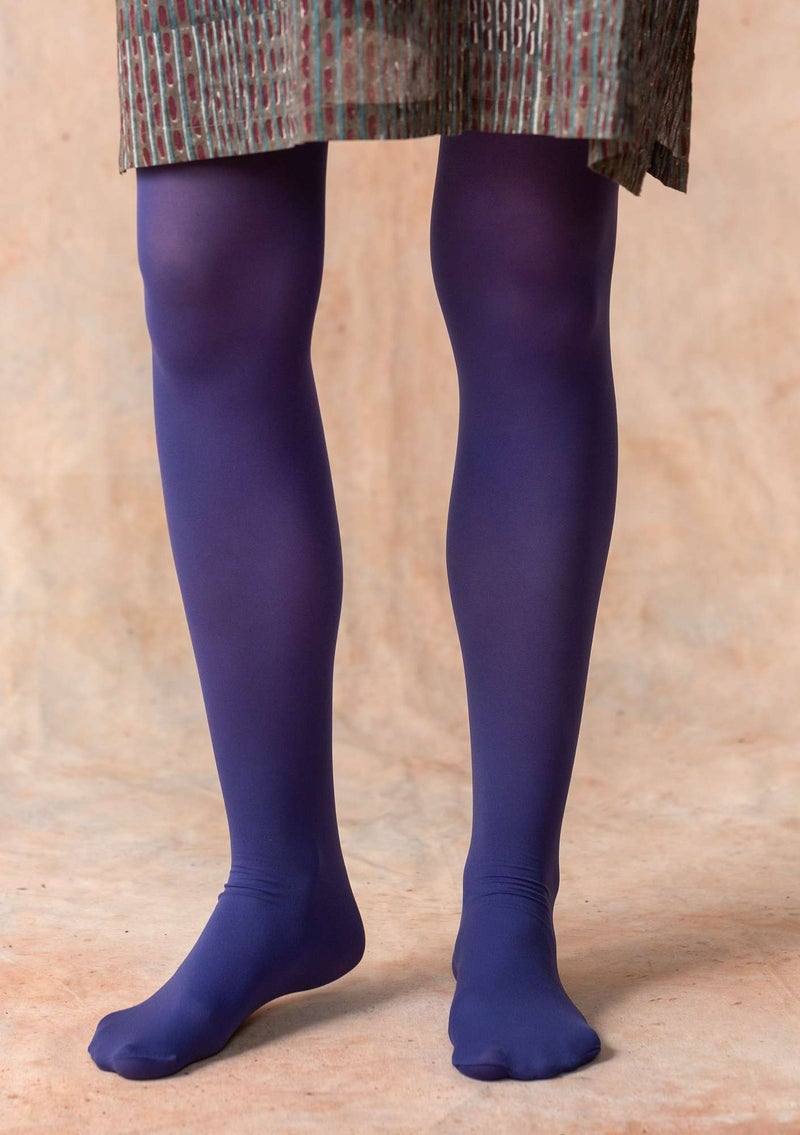 Tights in recycled nylon violet