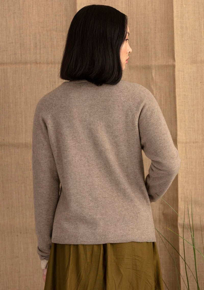 Brilliant cashmere cardigan light potato melange