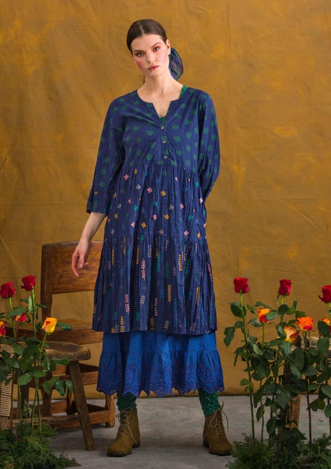 Pimpinella dress midnight blue/patterned