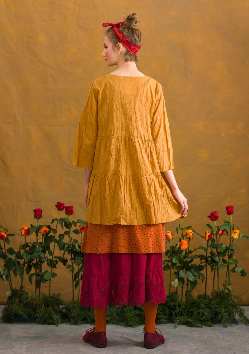 """Pimpinella"" blouse in organic cotton mustard"