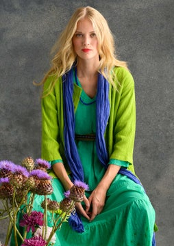 Solid-colour smock blouse tropical green