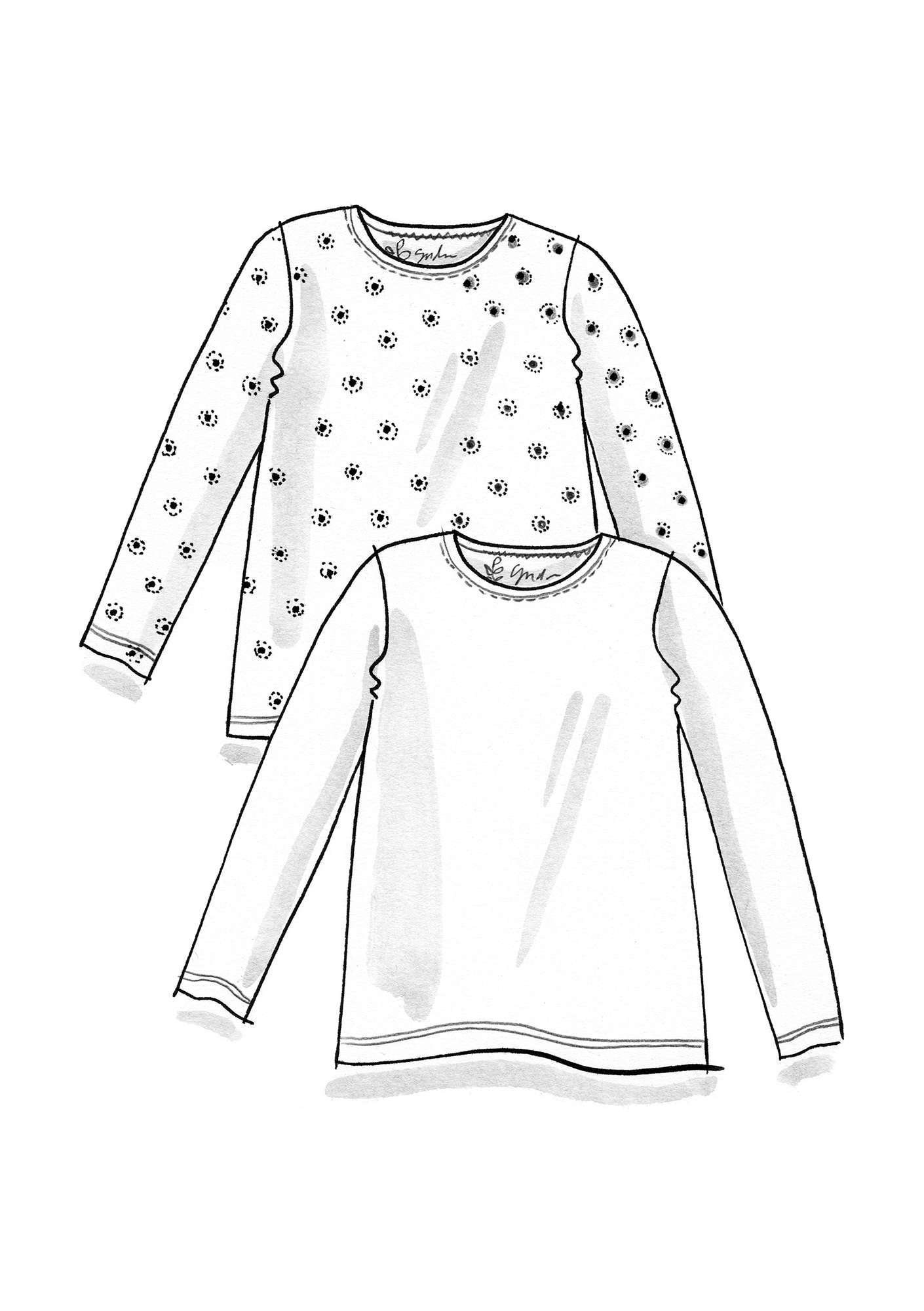"Shirt ""Twinkle"" aus Modal lupine"