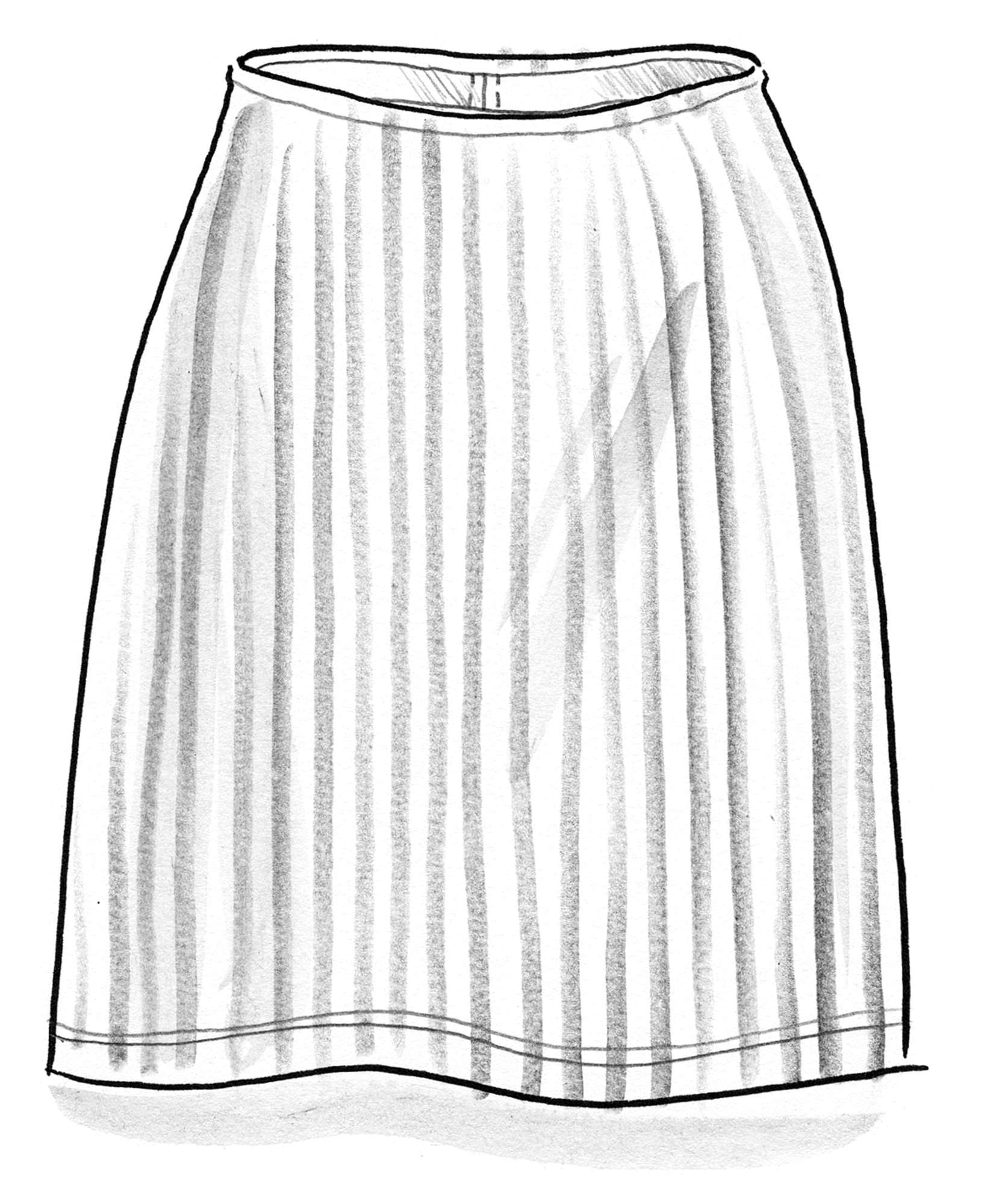 Striped skirt in organic cotton