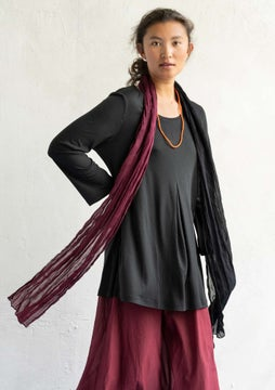 Silk blend tunic black