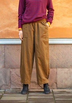Solid-colour trousers brass
