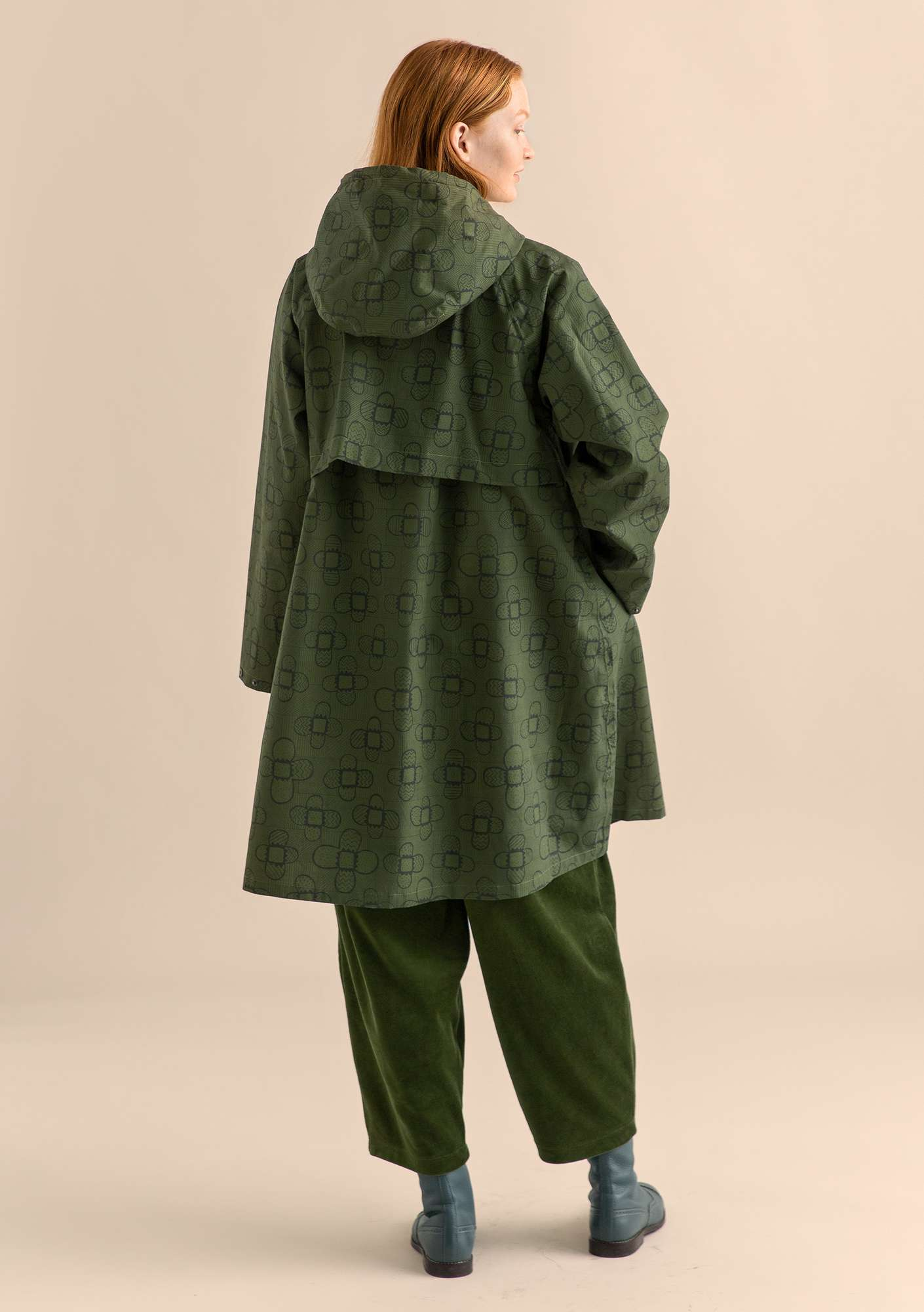 Organic cotton raincoat CINDY pine