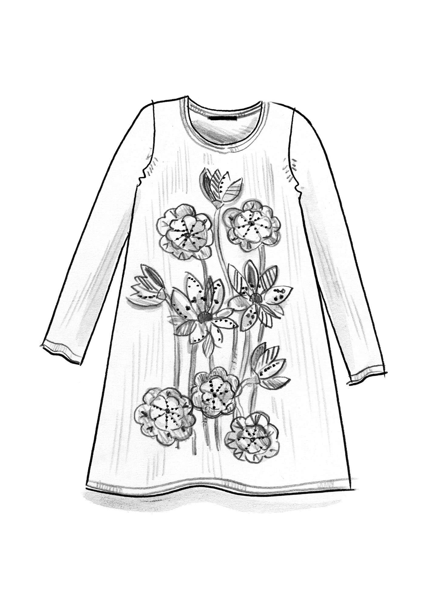 """Lotus"" tunic in linen/organic cotton black"