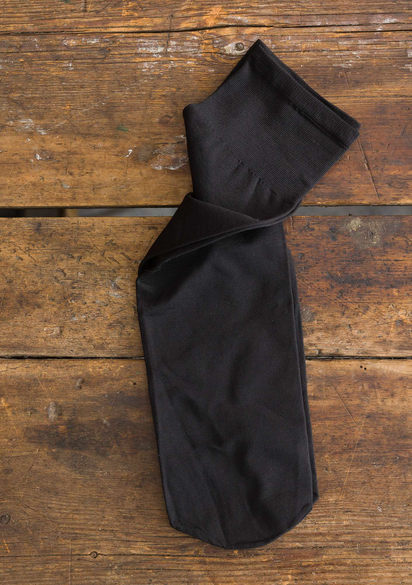 Solid-colour knee-highs black