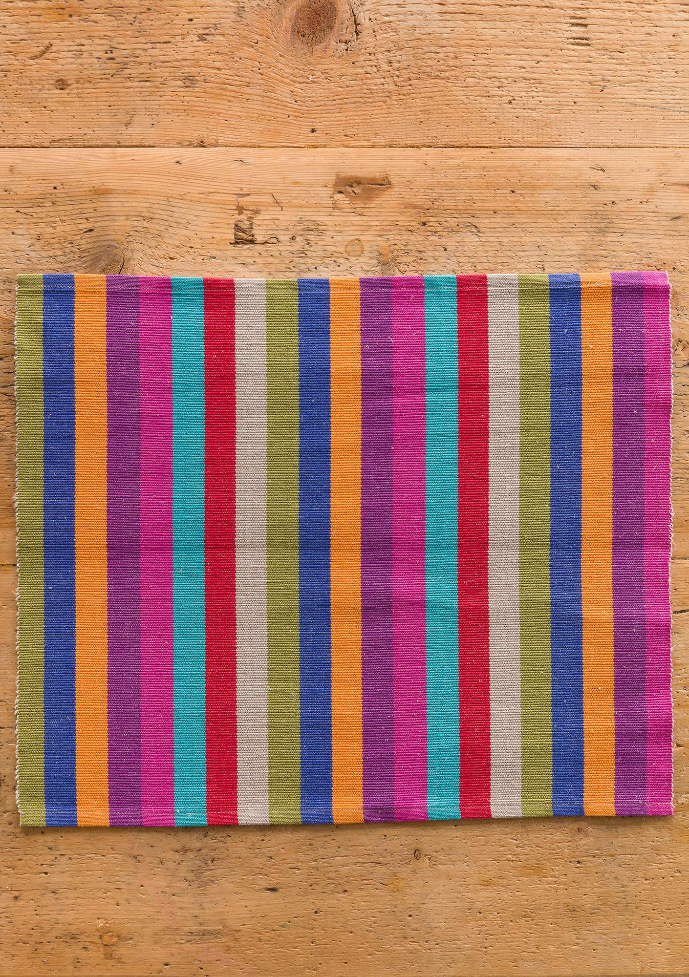 """Feliz"" linen/cotton placemat multicoloured"
