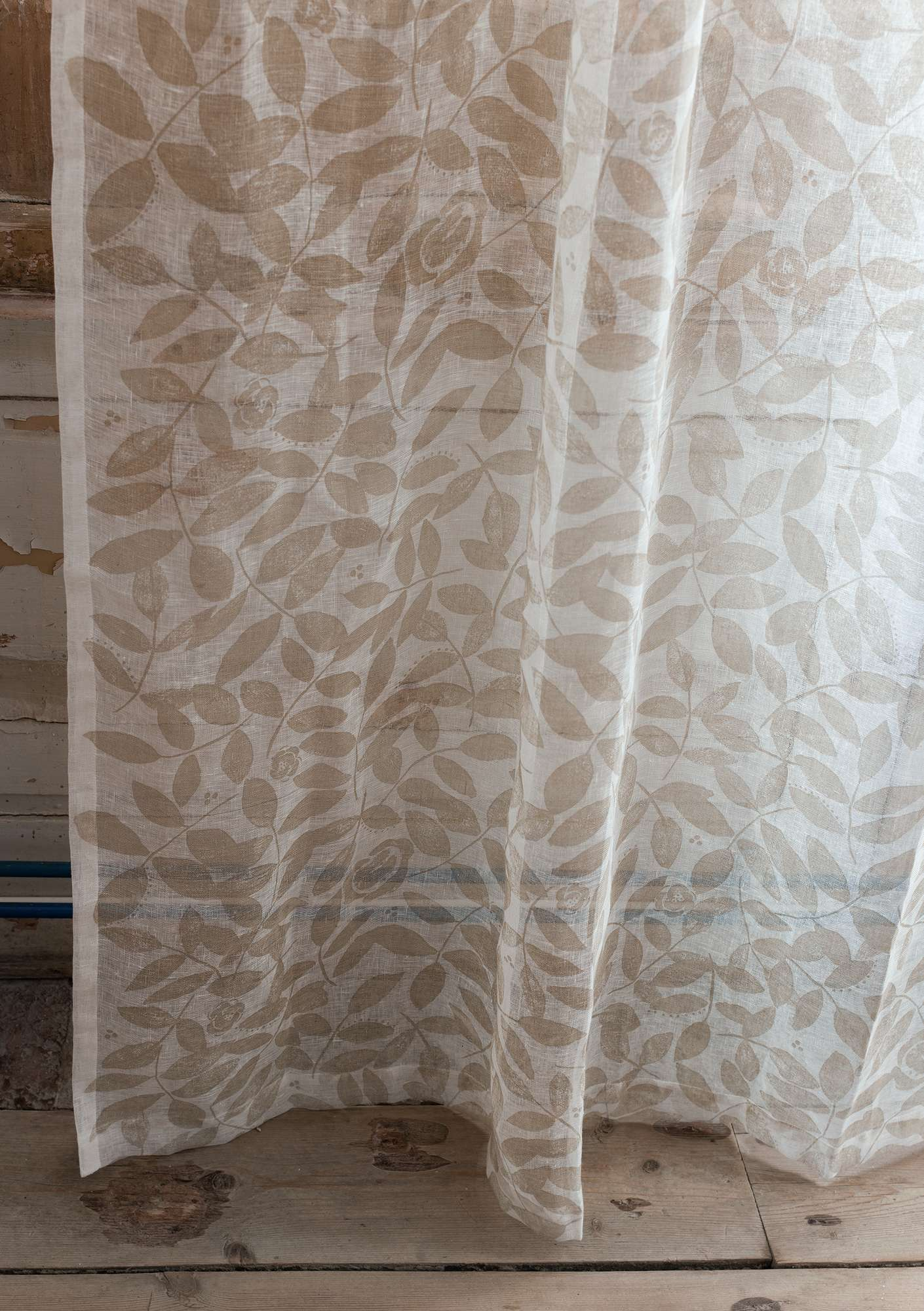 """Roses"" linen curtain natural"