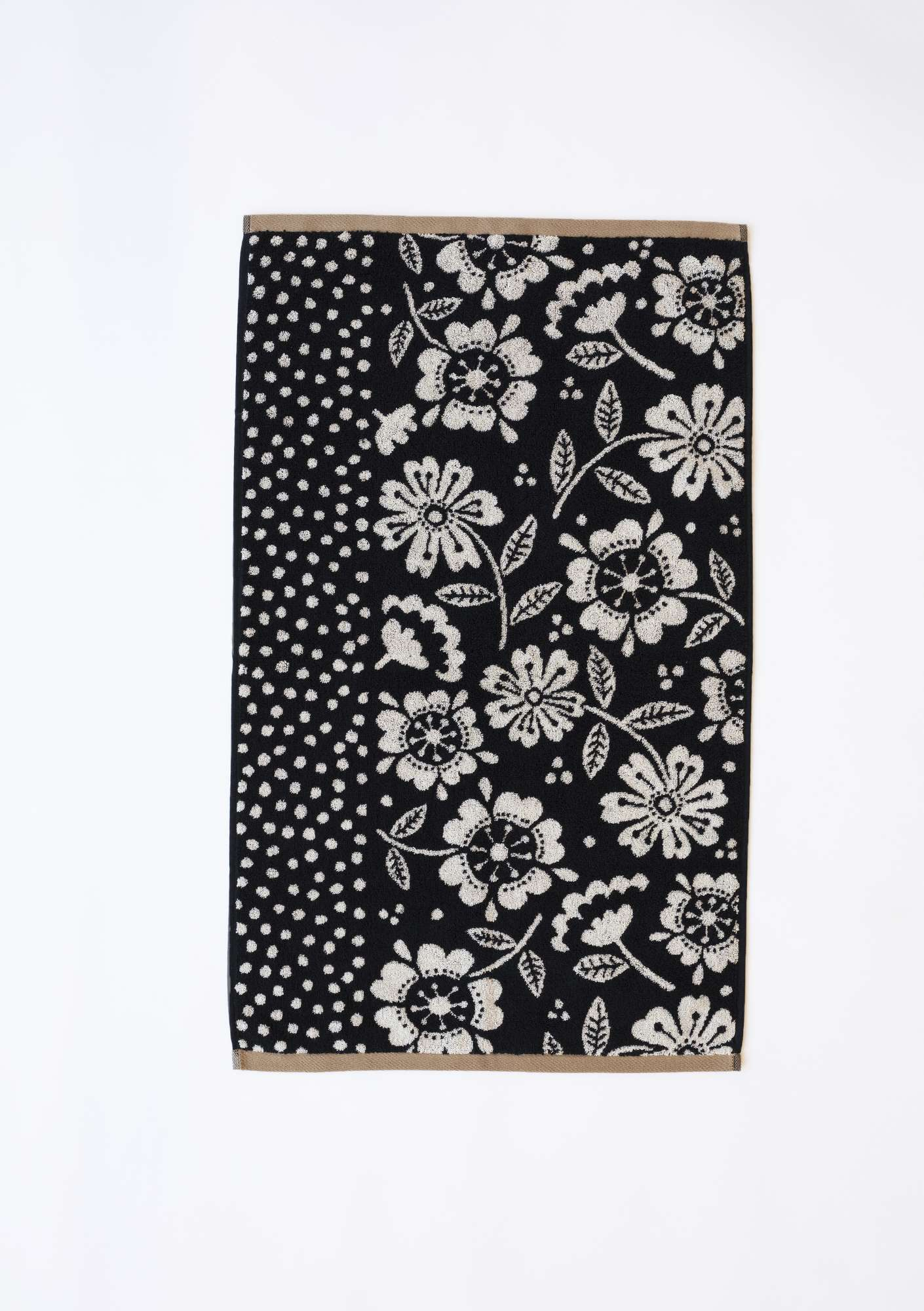 """Okinawa"" organic cotton hand towel black"