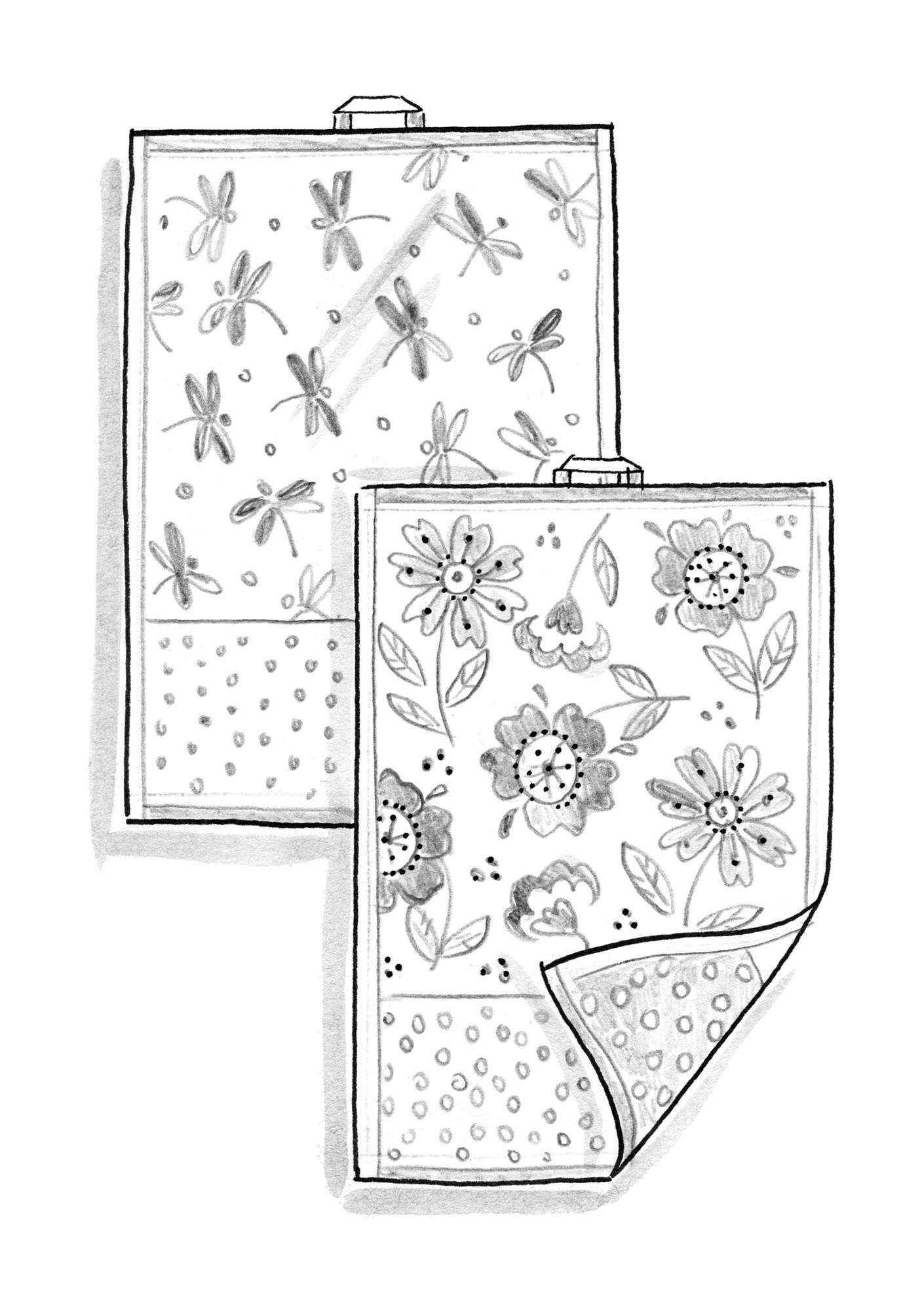 """Okinawa"" organic cotton guest towels, 2-pack water lily"