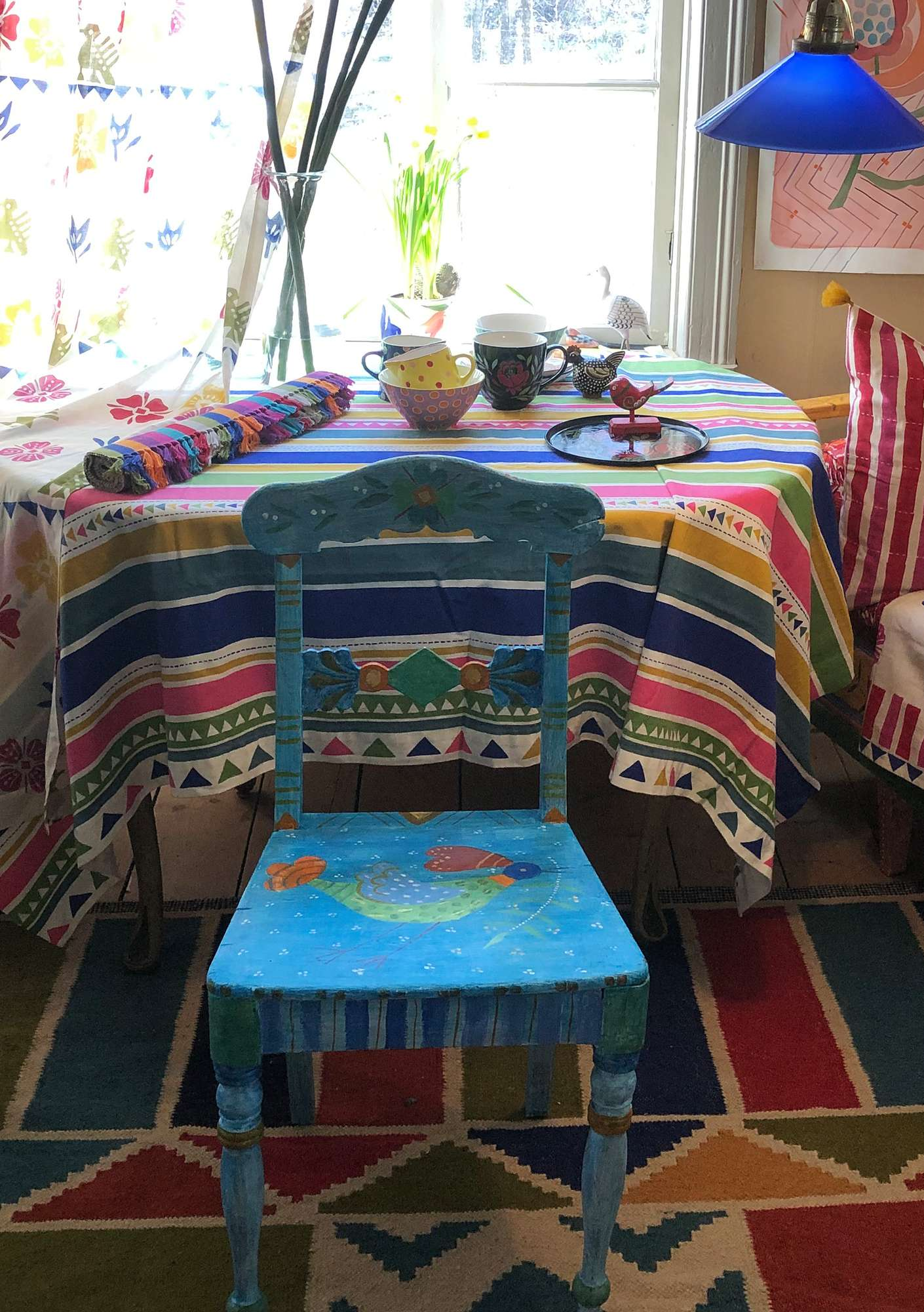 """Santa Fe"" organic cotton tablecloth multicoloured"