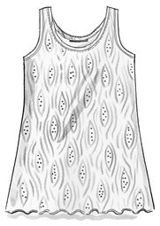 """Zebra"" jersey tank top in organic cotton/modal/spandex"