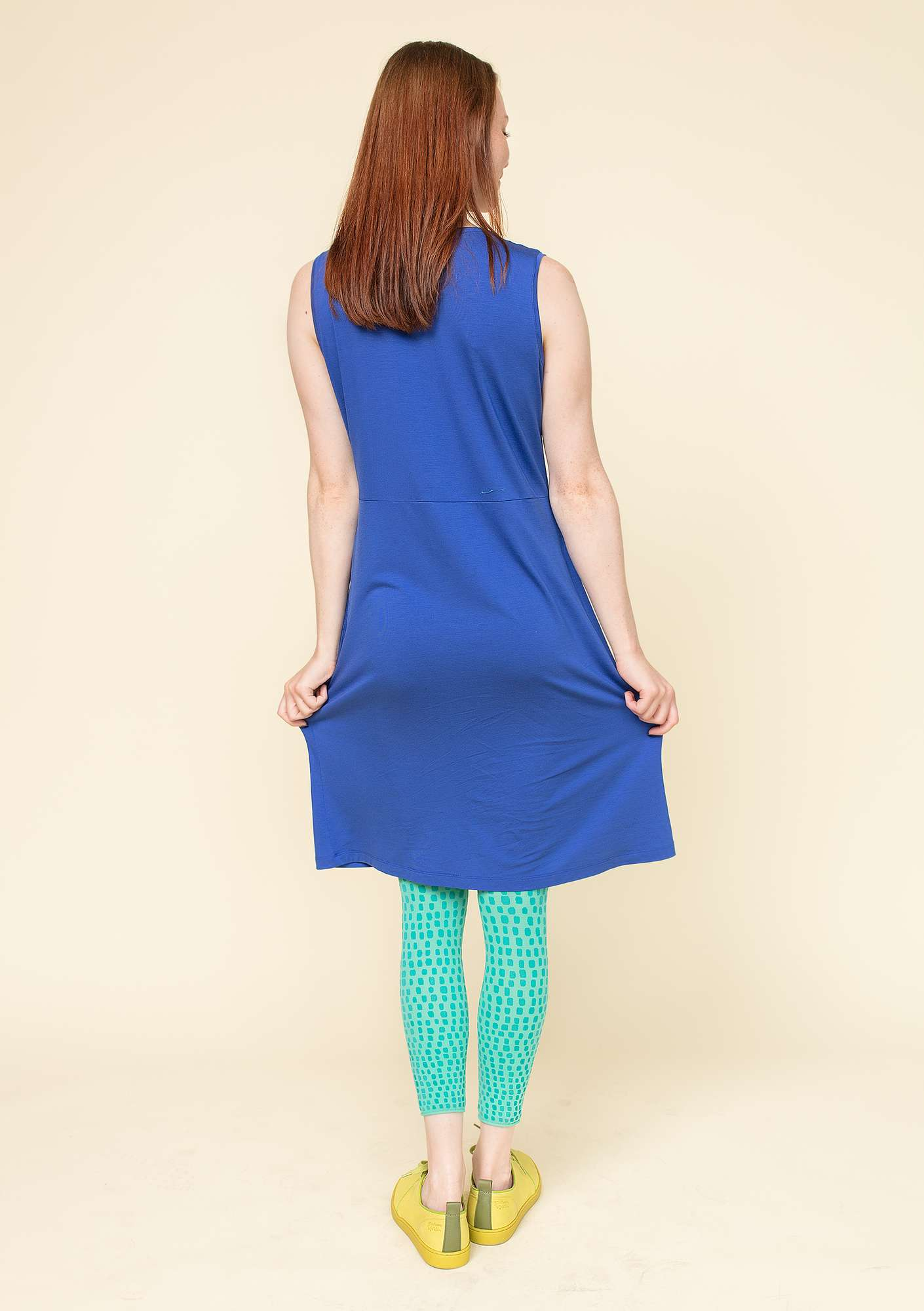 """Krusa"" dress in lyocell/spandex klein blue"