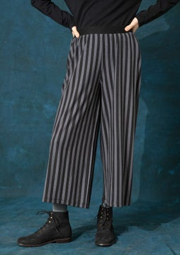 Striped trousers black/ash grey