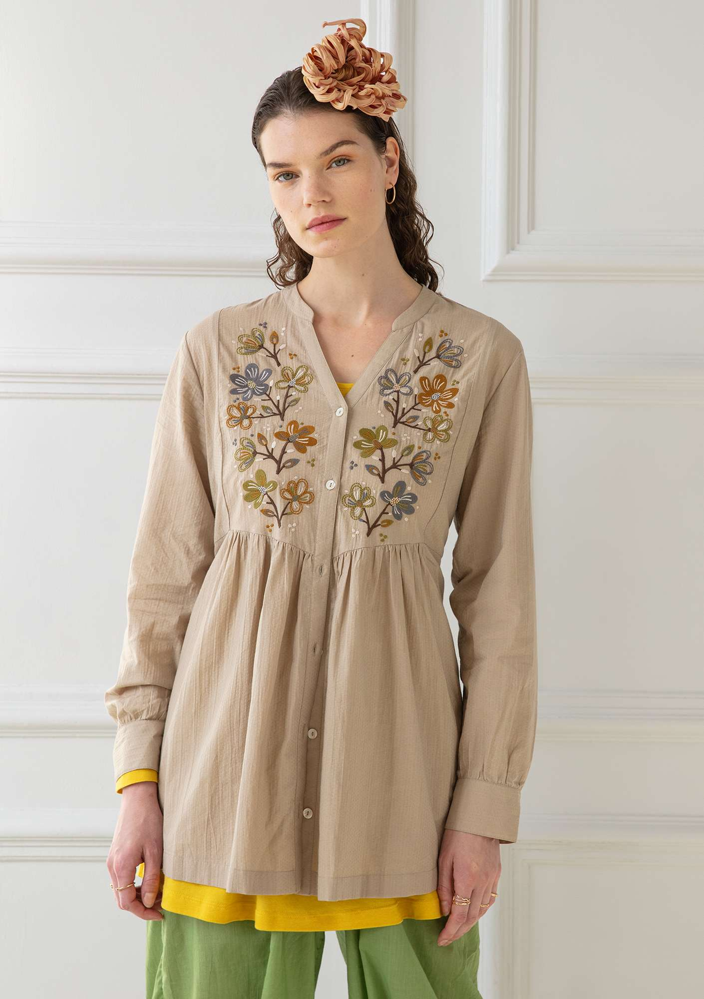 Blouse Kvist dark natural