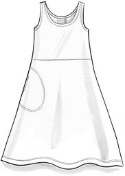 """Pytte"" sleeveless dress in lyocell/elastane"