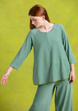 Velour tunic frost green