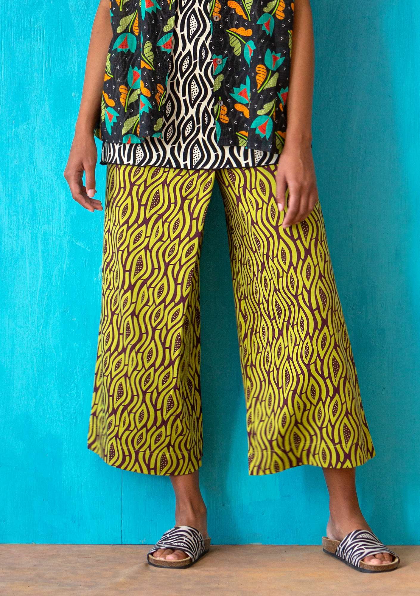 Pantalon Zebra leaf green