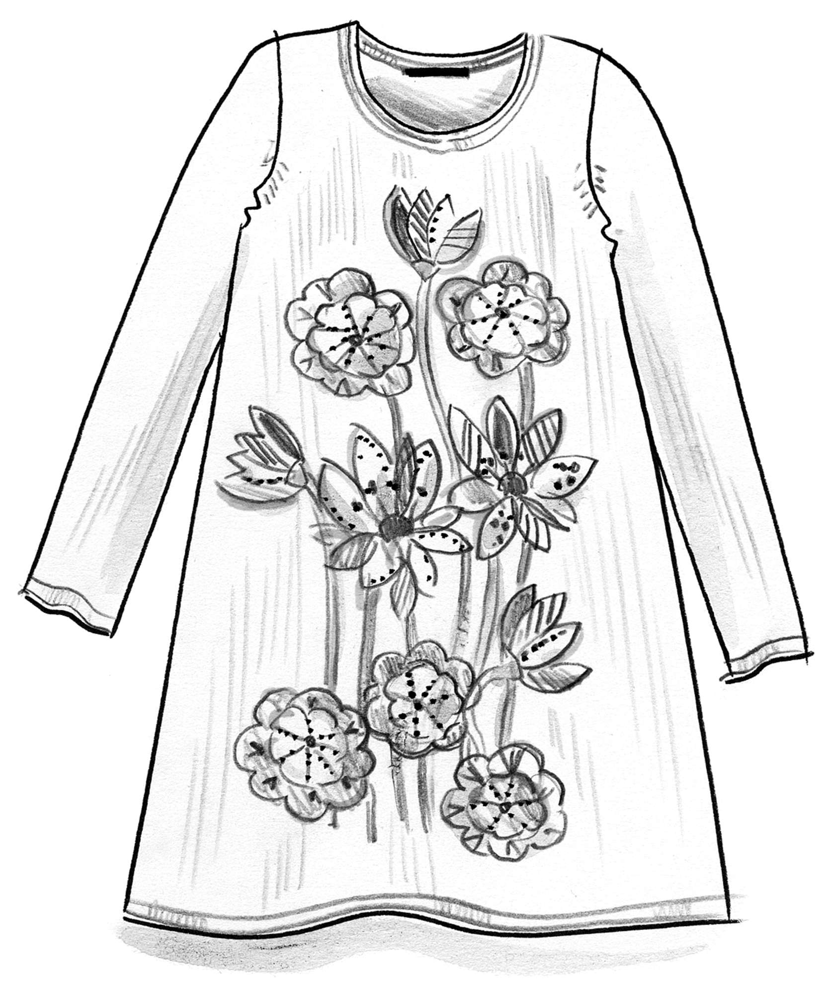 """Lotus"" tunic in linen/organic cotton"