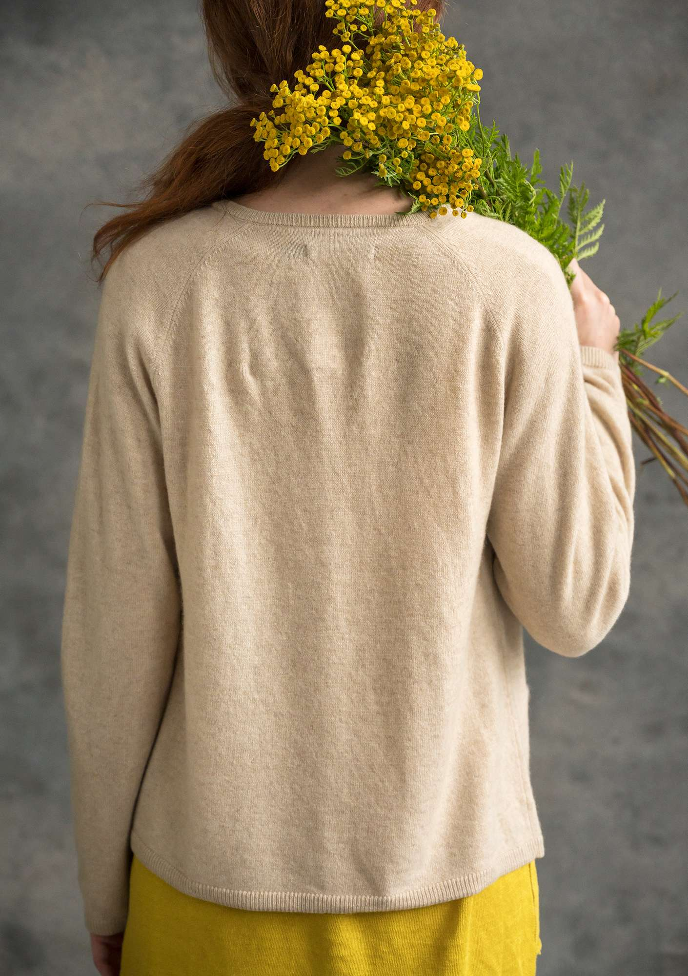 Brilliant cashmere cardigan nature
