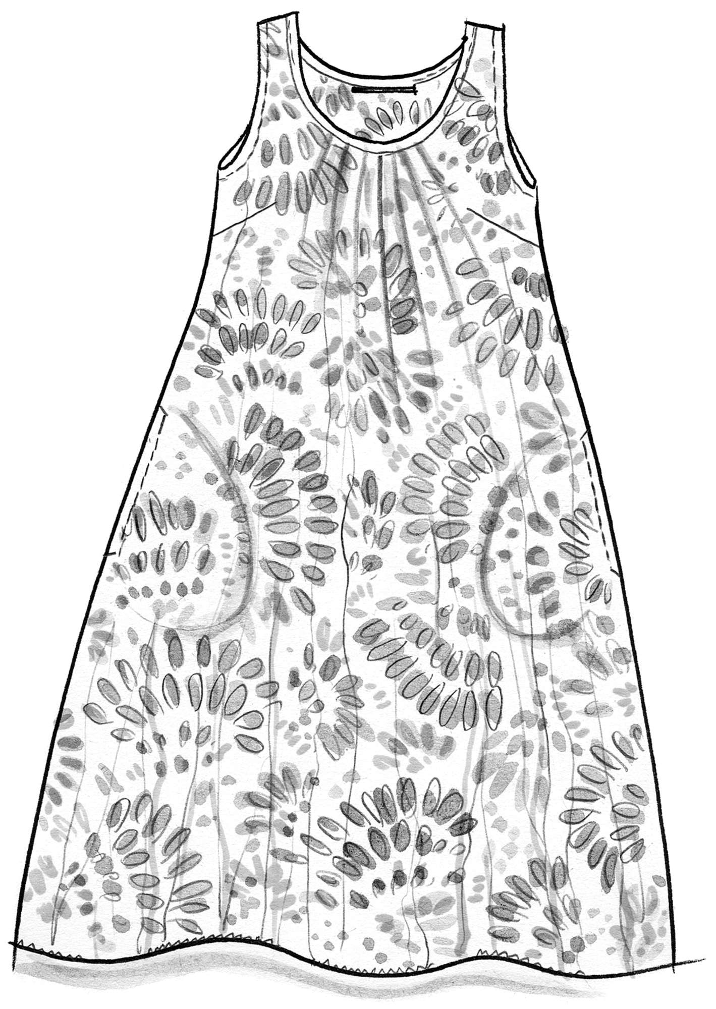 """Källa"" dress in cotton"
