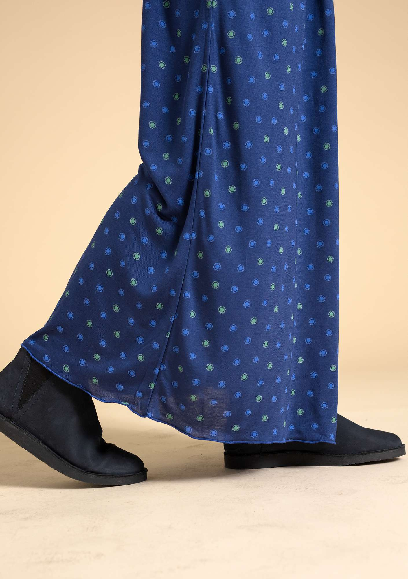 """Twinkle"" modal skirt midnight blue/patterned"