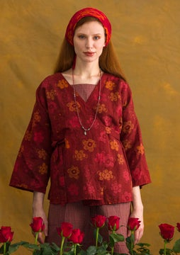 Bluse Lindblom agate red/patterned