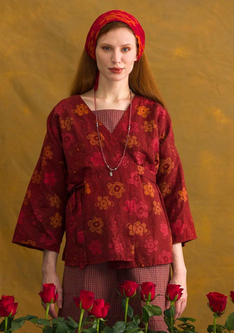Lindblom blouse agate red/patterned