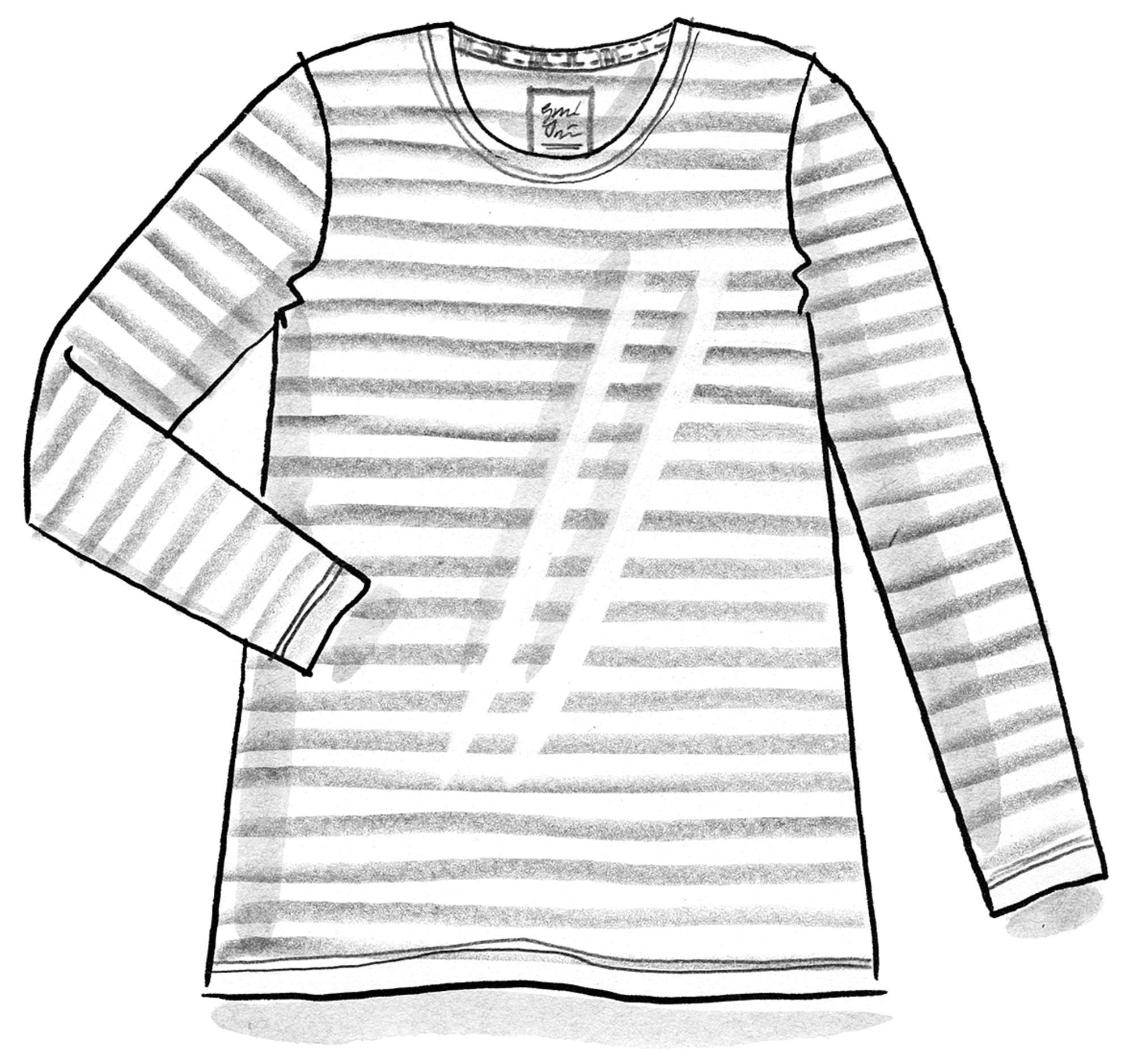 Striped top in organic cotton