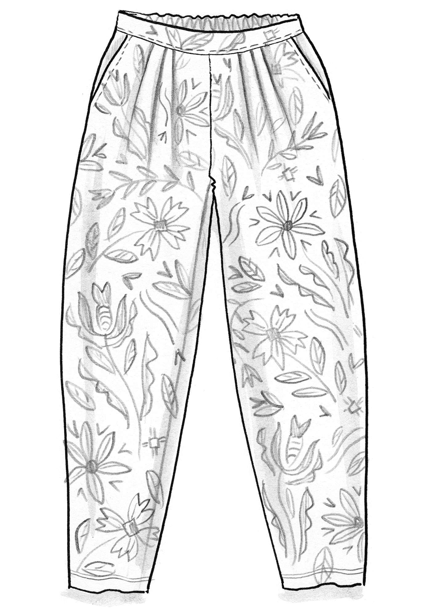 """Amber"" pants in organic cotton indigo"