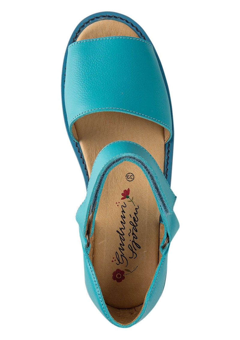 Nappa sandals turquoise