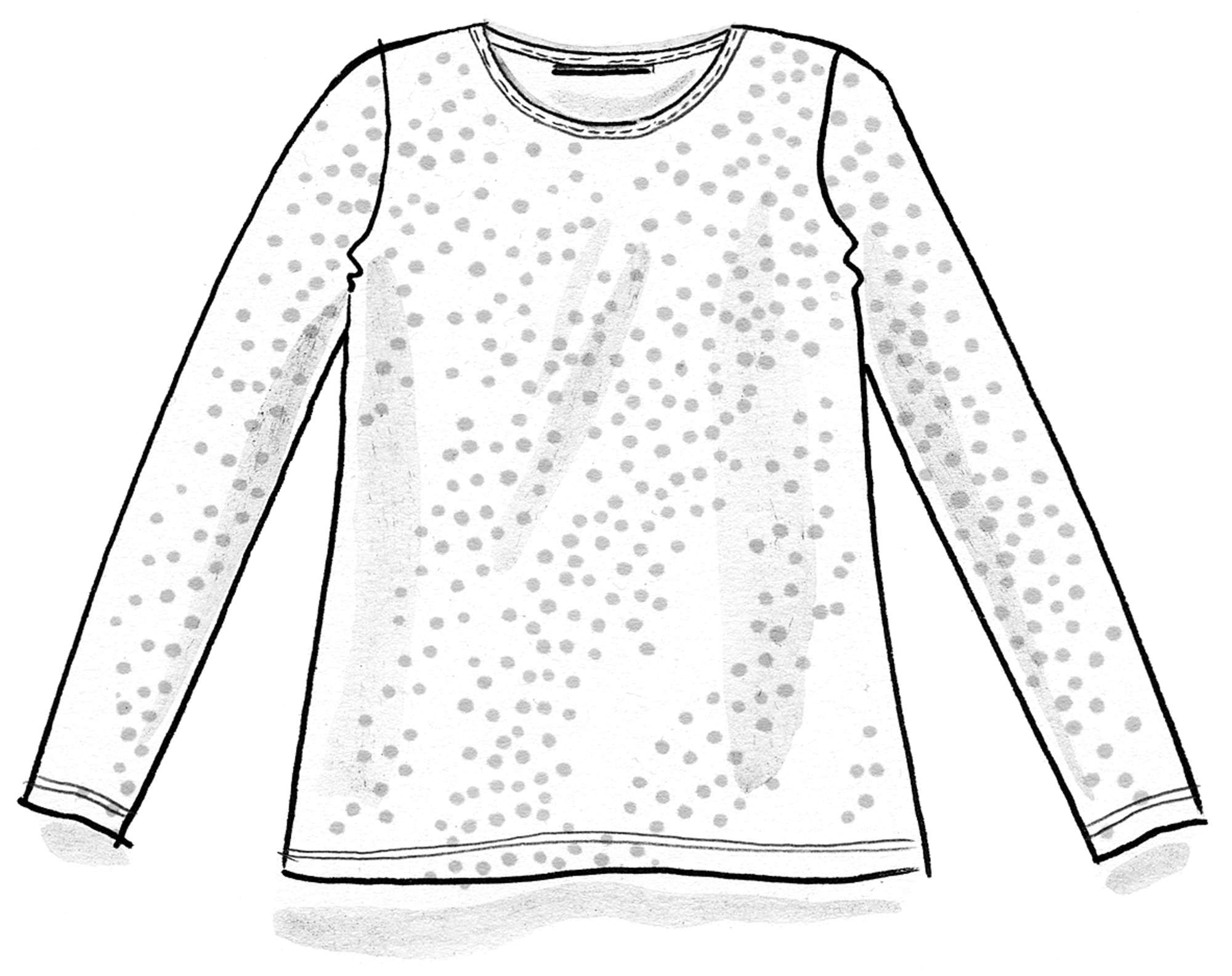 Dotted silk-blend top