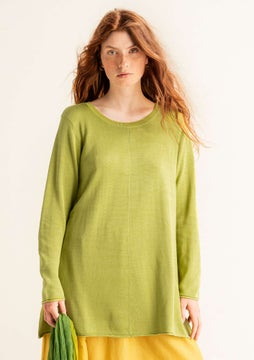 Silk knit fabric tunic kiwi