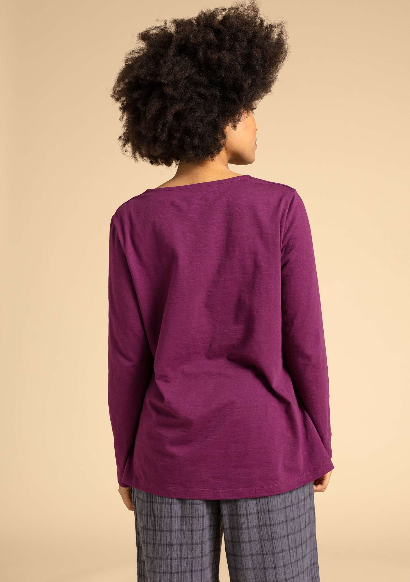 """Livia"" top in eco-cotton grape"