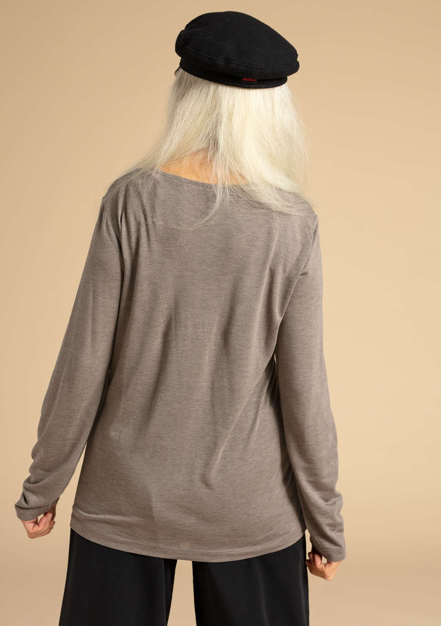 "Top ""Twinkle"" en modal gris naturel chiné"