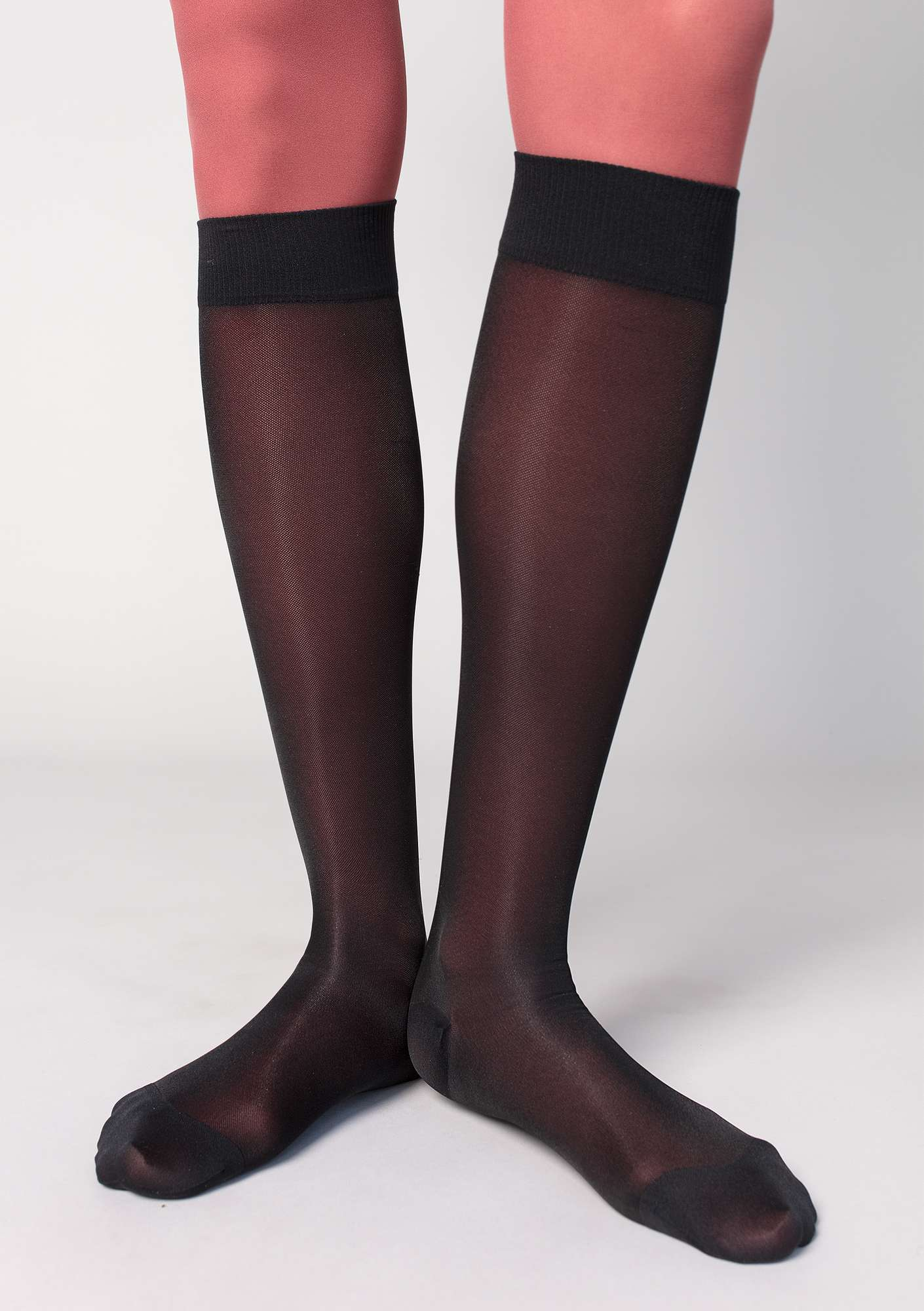 Compression socks in nylon black